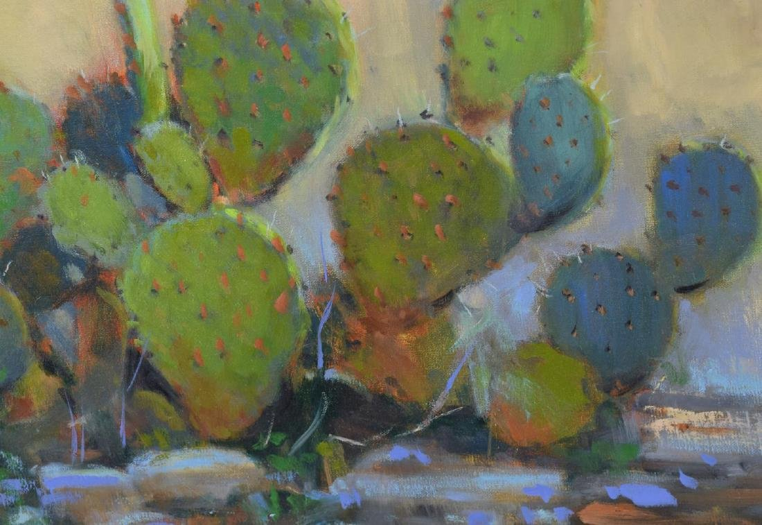 DAVID FORKS (TEXAS B. 1957) 'CACTUS OIL PAINTING - 4