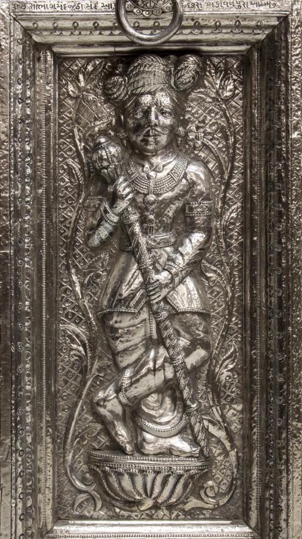 SILVER CLAD TEMPLE DOOR, INDIA, 99% PURE SILVER - 2