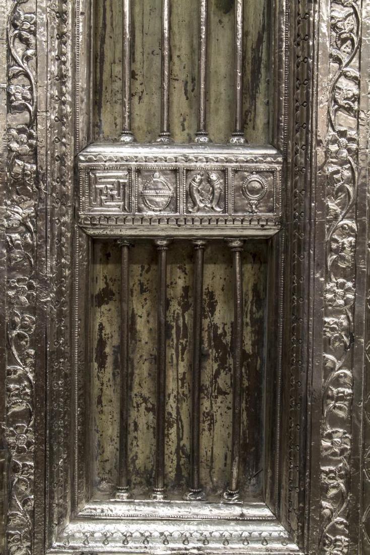 SILVER CLAD TEMPLE DOOR, INDIA, 99% PURE SILVER - 3