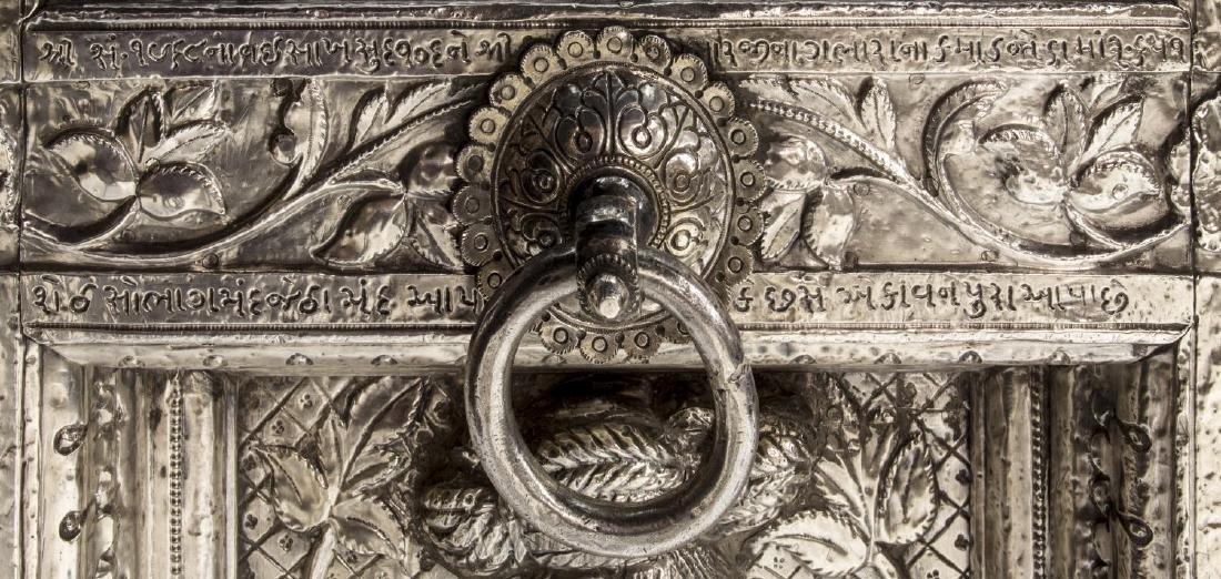 SILVER CLAD TEMPLE DOOR, INDIA, 99% PURE SILVER - 7