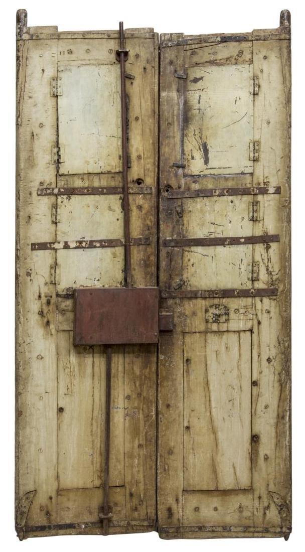 SILVER CLAD TEMPLE DOOR, INDIA, 99% PURE SILVER - 8