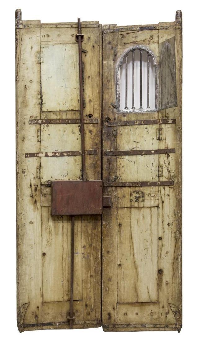 SILVER CLAD TEMPLE DOOR, INDIA, 99% PURE SILVER - 9