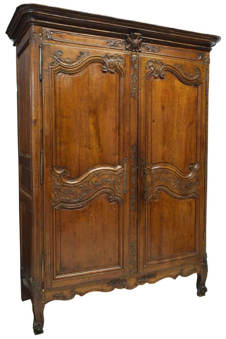 FRENCH LOUIS XV 18TH C. ARMOIRE