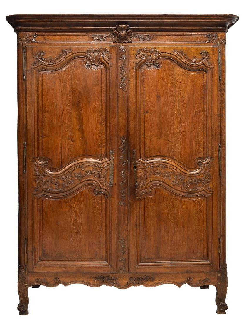 FRENCH LOUIS XV 18TH C. ARMOIRE - 2
