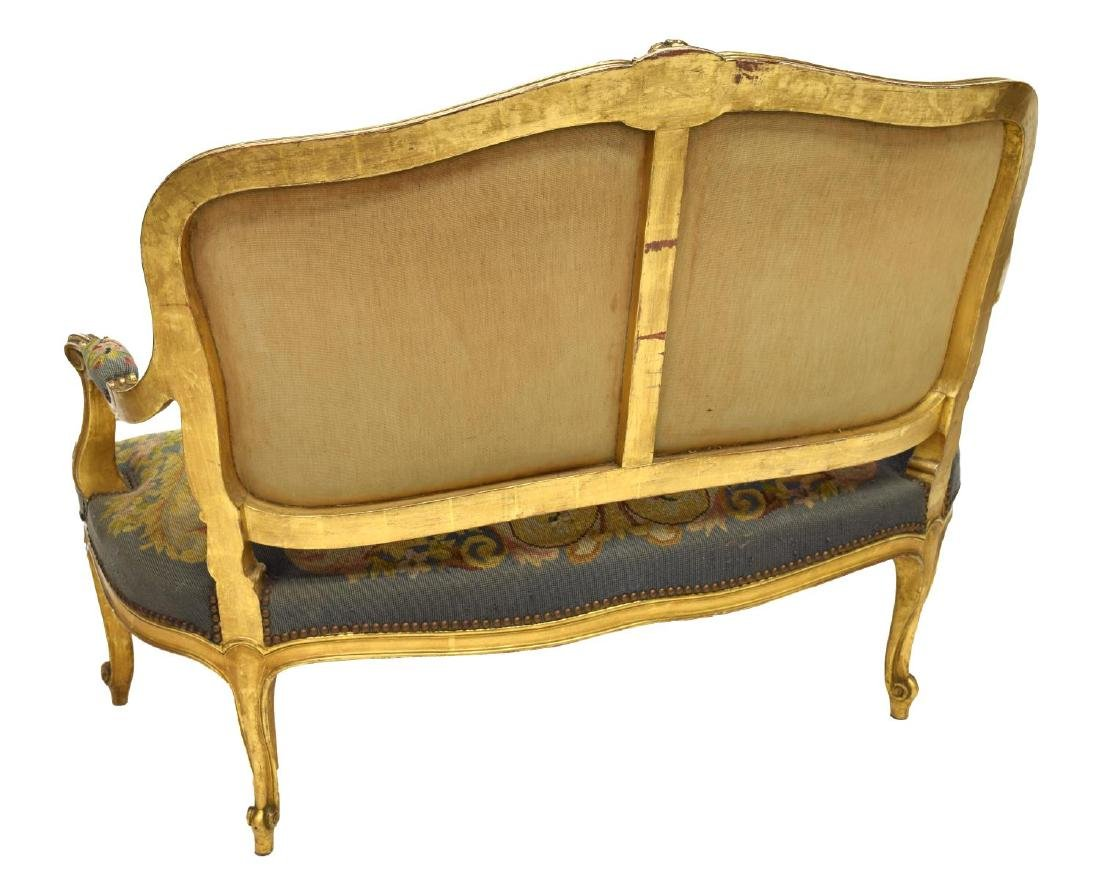 FRENCH LOUIS XV STYLE CARVED GILTWOOD SALON SUITE - 3
