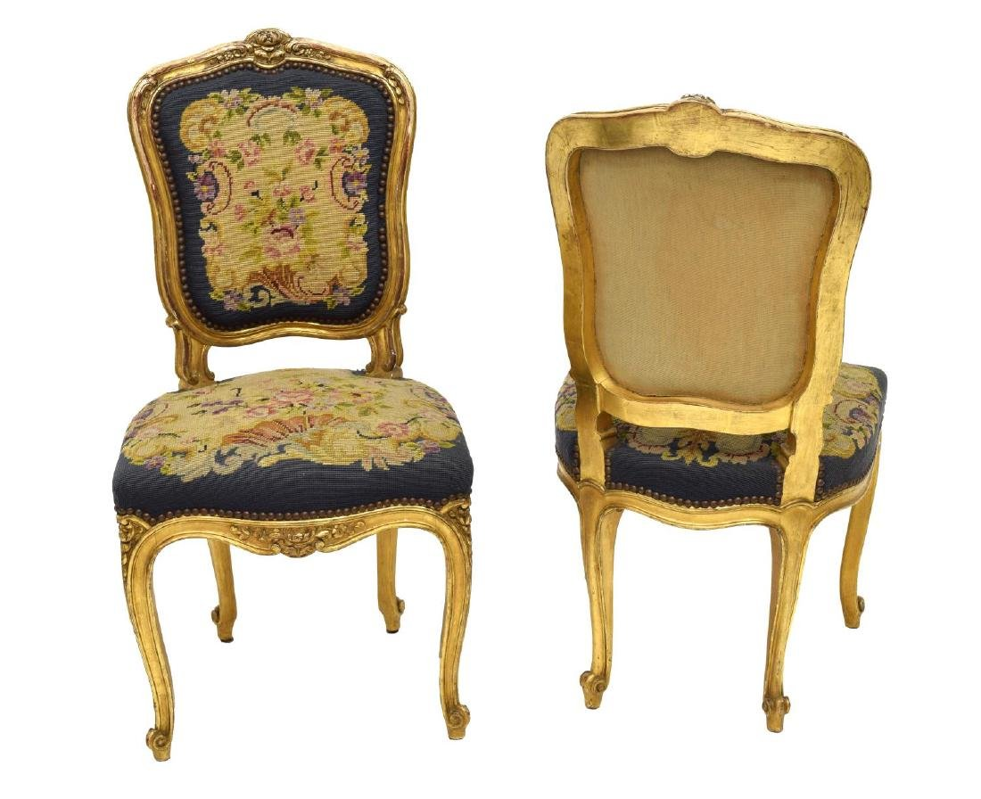 FRENCH LOUIS XV STYLE CARVED GILTWOOD SALON SUITE - 5
