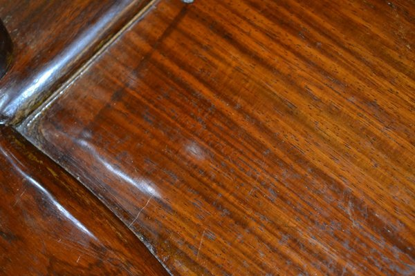 (4) CHINESE HARDWOOD & MARBLE OPEN ARMCHAIRS - 4