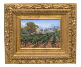 SCOTT FITZGERALD PAINTING, WINE COUNTRY