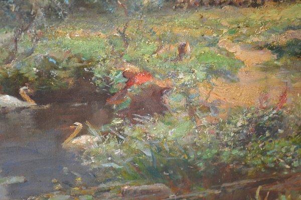 WALTER GOLDSMITH (ENGLISH 1860-1930) LANDSCAPE O/C - 10