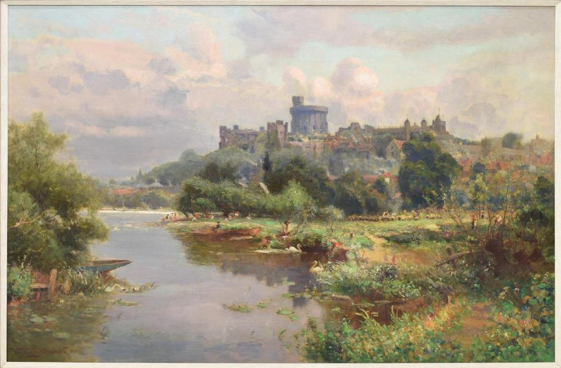 WALTER GOLDSMITH (ENGLISH 1860-1930) LANDSCAPE O/C - 3