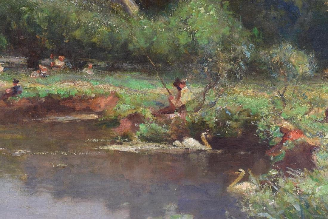 WALTER GOLDSMITH (ENGLISH 1860-1930) LANDSCAPE O/C - 4