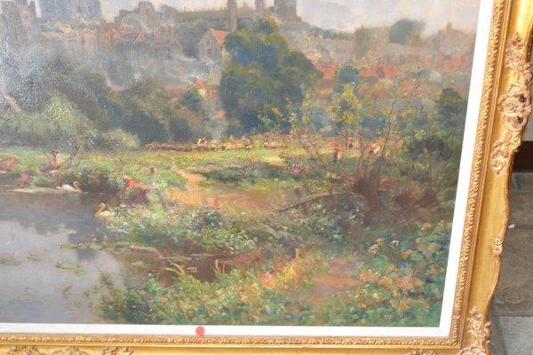 WALTER GOLDSMITH (ENGLISH 1860-1930) LANDSCAPE O/C - 8