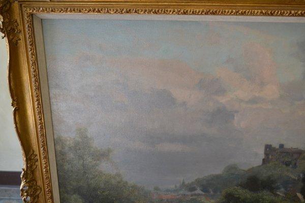 WALTER GOLDSMITH (ENGLISH 1860-1930) LANDSCAPE O/C - 9