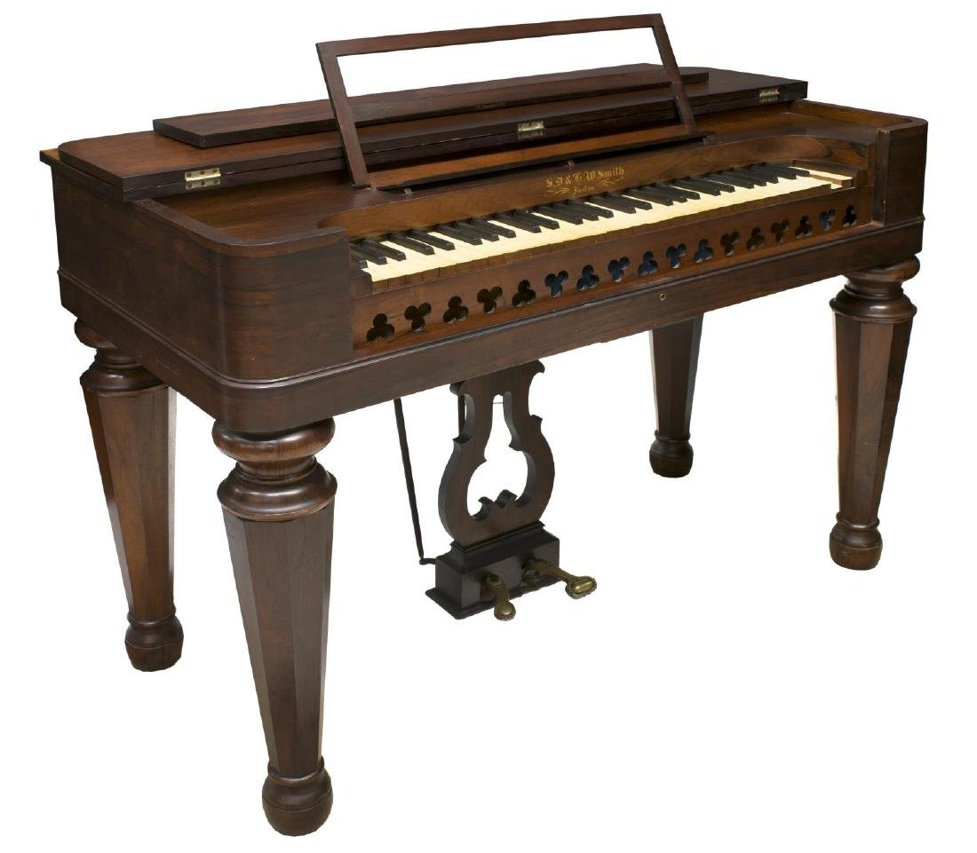 ROSEWOOD CASED SD & HW SMITH PUMP ORGAN, 1860'S
