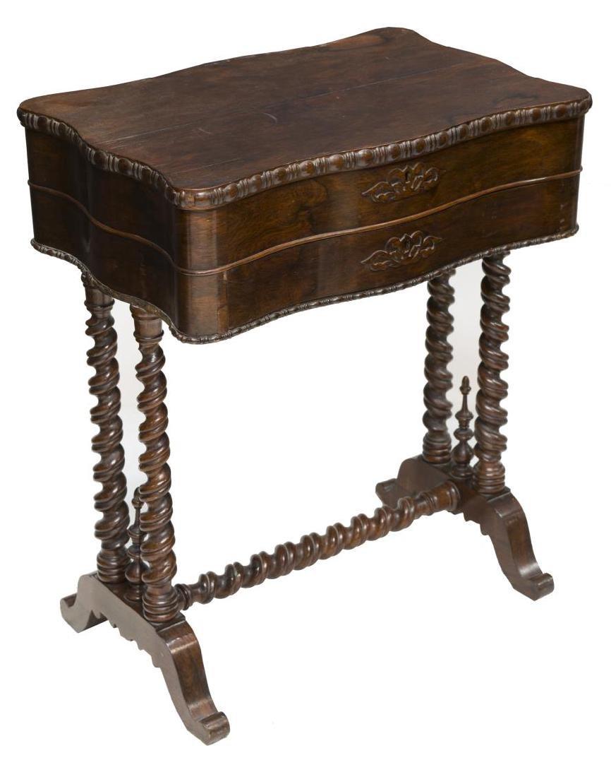 AMERICAN MAHOGANY SEWING TABLE