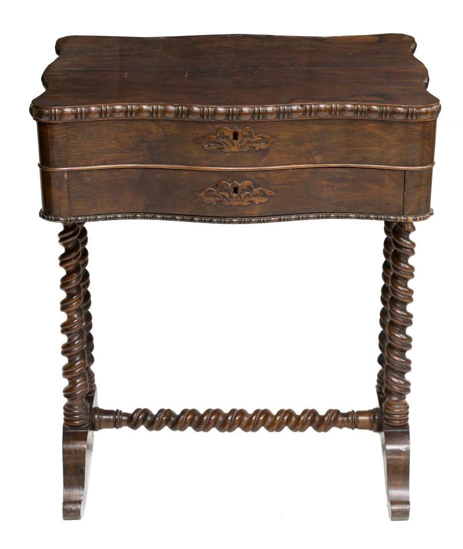 AMERICAN MAHOGANY SEWING TABLE - 3