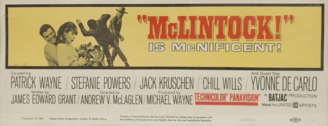 FRAMED MOVIE POSTER, McLINTOCK, JOHN WAYNE - 3