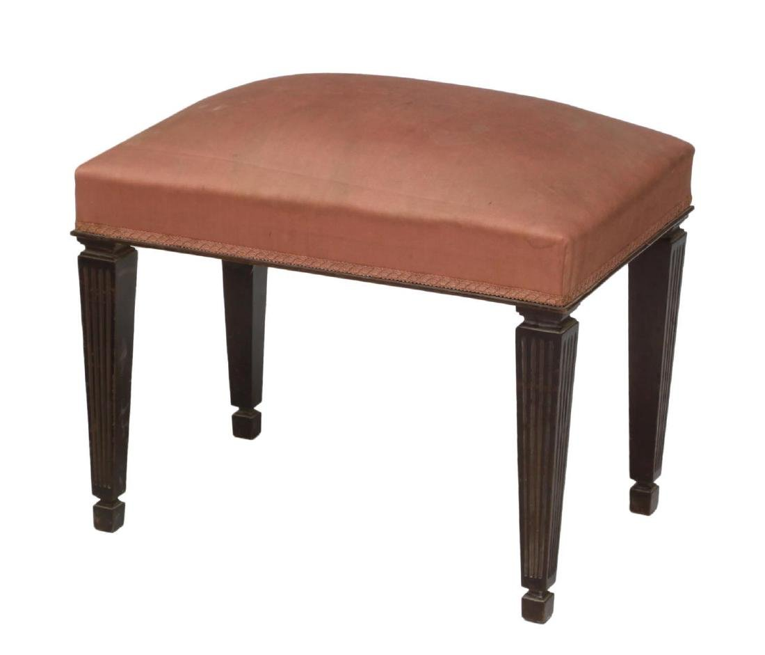 (2) FRENCH 19TH CENTURY FURNITURE, STOOL & BENCH - 3