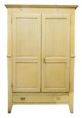 ITALIAN PAINTED TWO DOOR ARMOIRE, EARLY 19TH C.