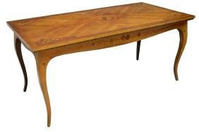 ITALIAN LOUIS XV STYLE MARQUETRY INLAID TABLE