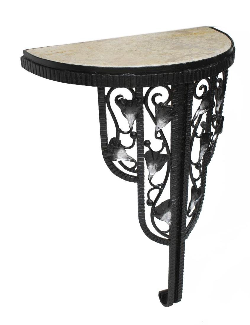 ART DECO STYLE FOLIATE MIRRORED WALL CONSOLE TABLE - 3