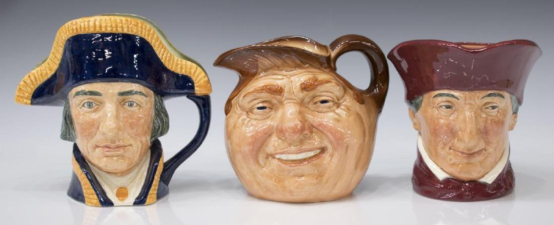 (5) LARGE ROYAL DOULTON CHARACTER TOBY JUGS - 2