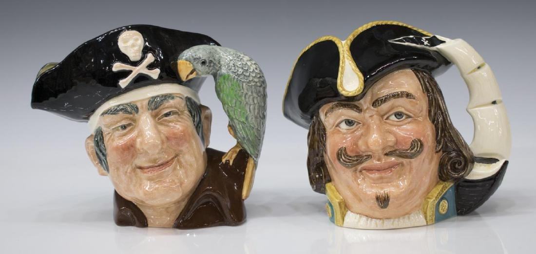 (5) LARGE ROYAL DOULTON CHARACTER TOBY JUGS - 5
