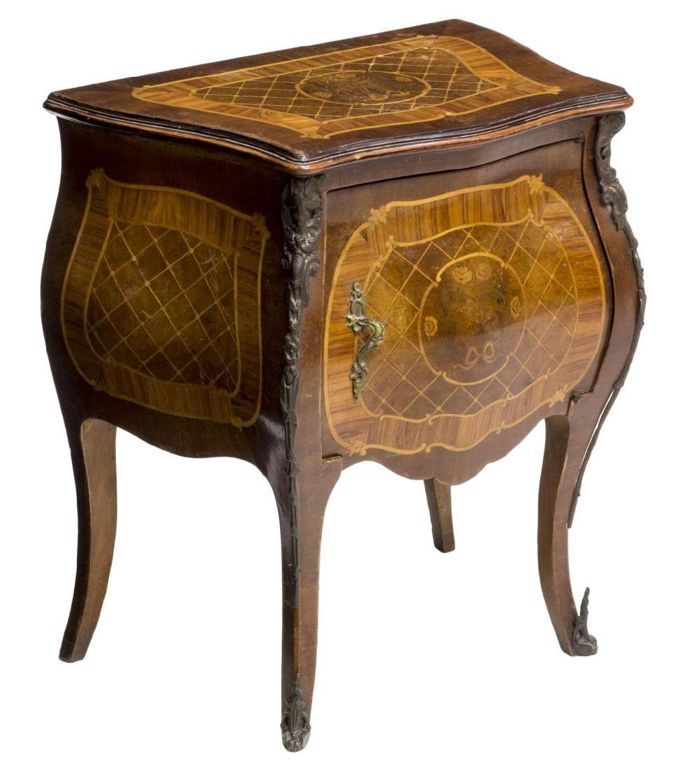 LOUIS XV STYLE MARQUETRY BEDSIDE CABINET