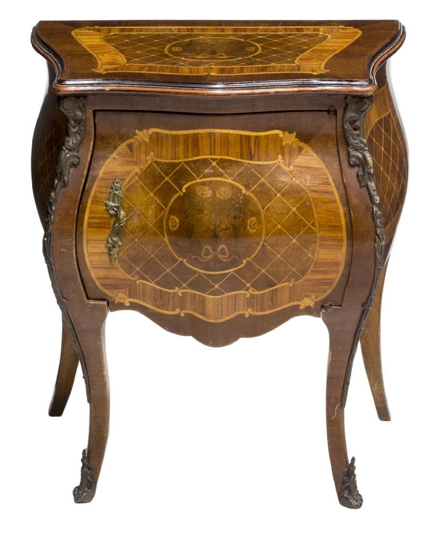 LOUIS XV STYLE MARQUETRY BEDSIDE CABINET - 2