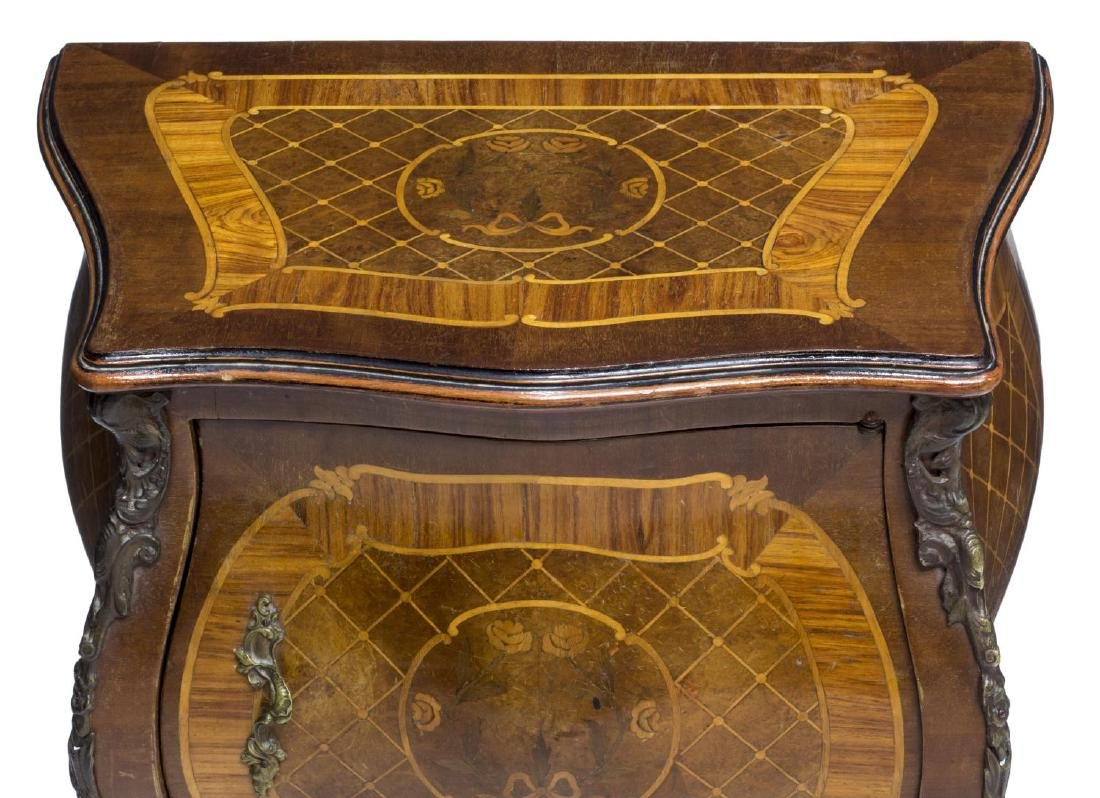LOUIS XV STYLE MARQUETRY BEDSIDE CABINET - 3