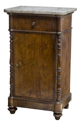 VICTORIAN MARBLE TOP SIDE CABINET
