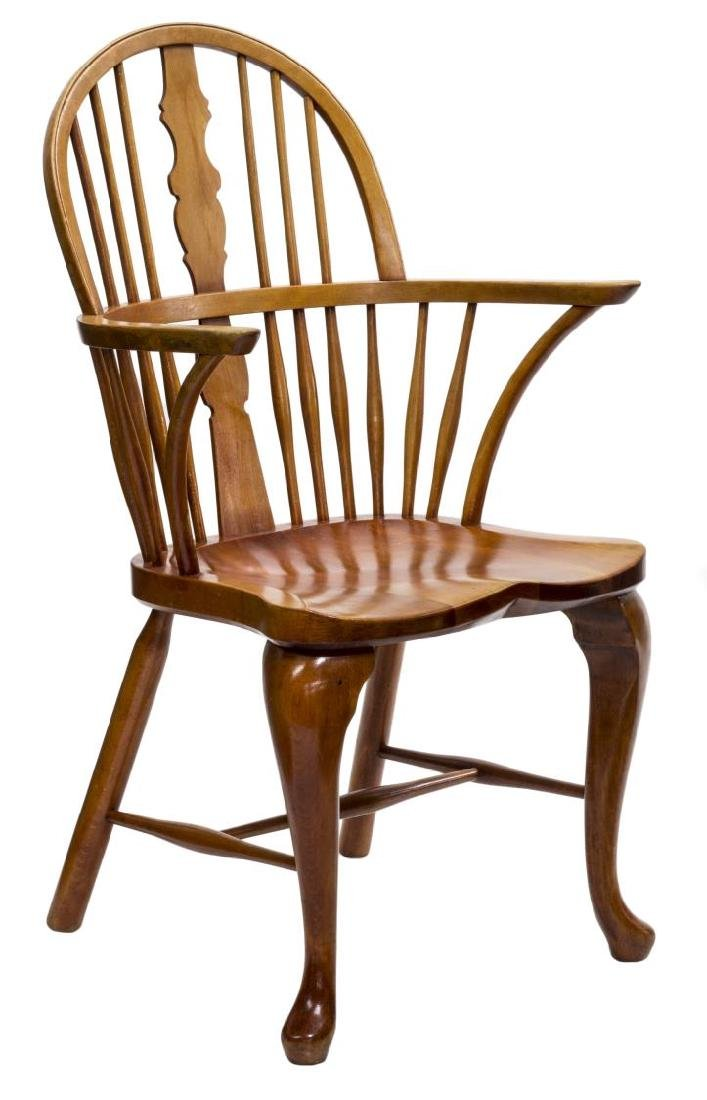 DANISH OAK WINDSOR STYLE ARM CHAIR