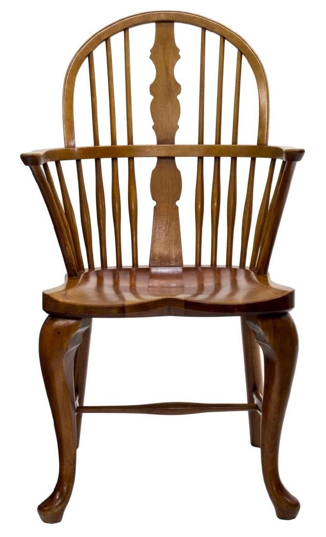 DANISH OAK WINDSOR STYLE ARM CHAIR - 2