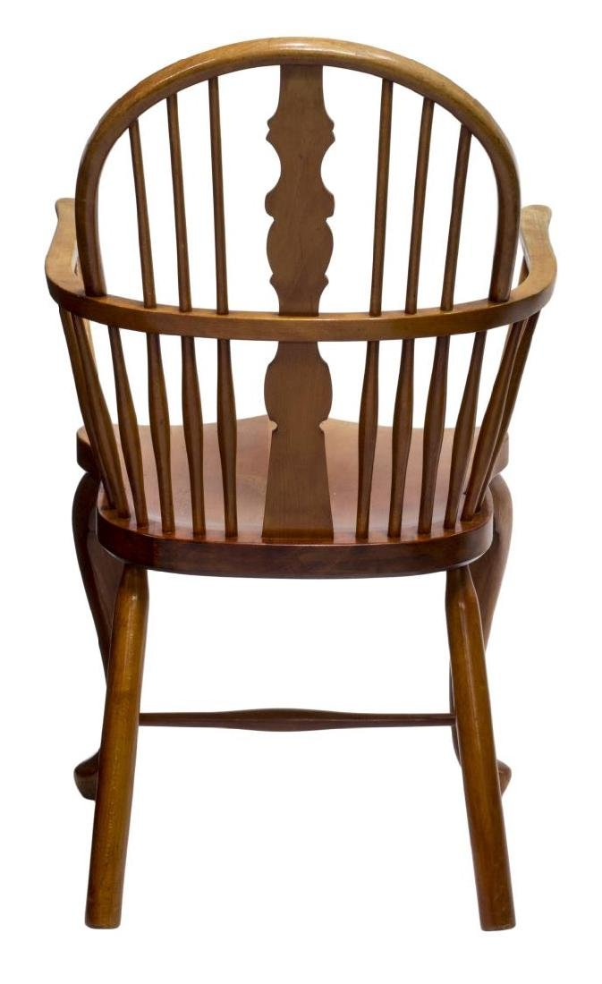 DANISH OAK WINDSOR STYLE ARM CHAIR - 3