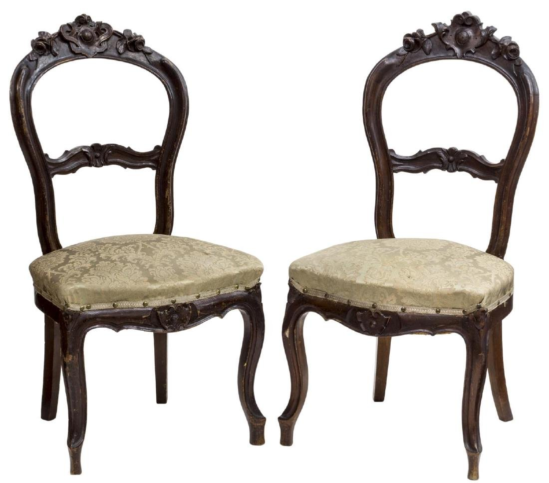 (2) FRENCH LOUIS XV STYLE SALON CHAIRS