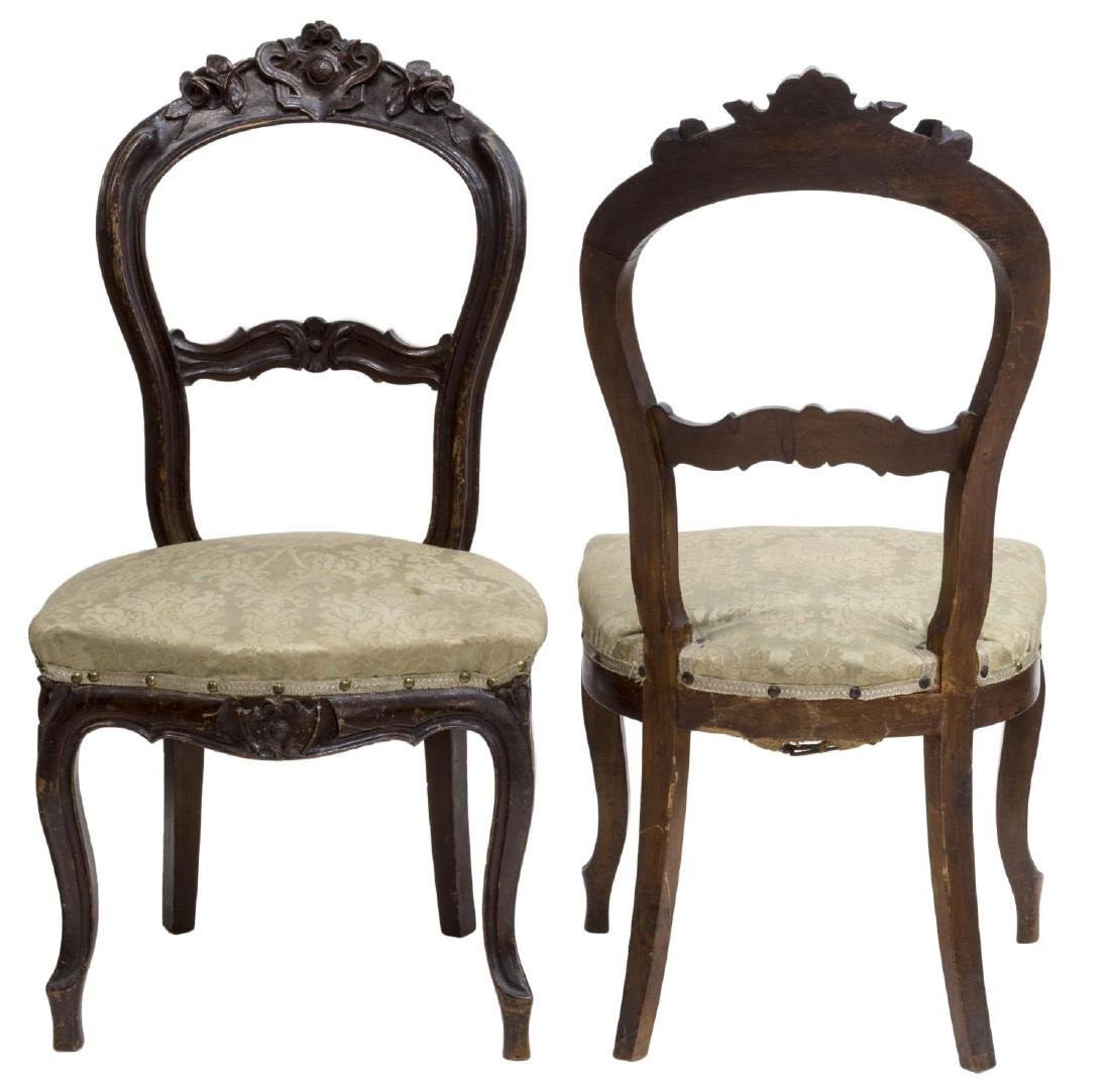 (2) FRENCH LOUIS XV STYLE SALON CHAIRS - 2
