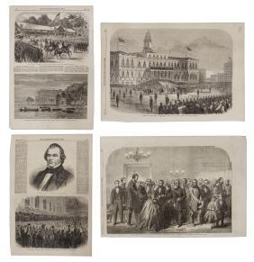 (4) U.S. CIVIL WAR ILLUSTRATIONS LINCOLN & JOHNSON