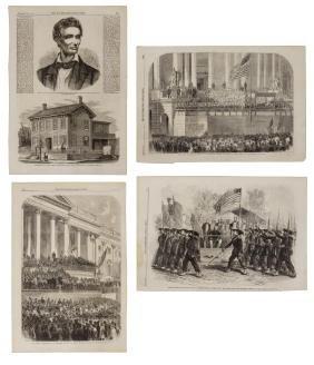 (4) U.S. CIVIL WAR ILLUSTRATIONS, LINCOLN