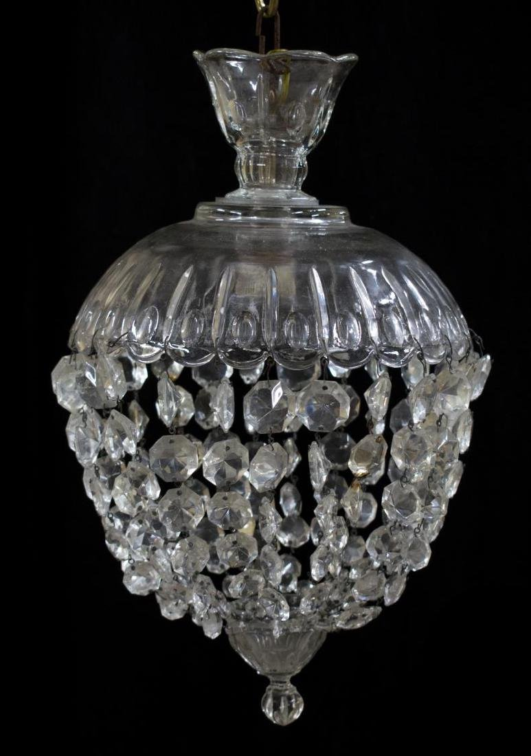 ITALIAN CRYSTAL SINGLE-LIGHT PENDANT CHANDELIER