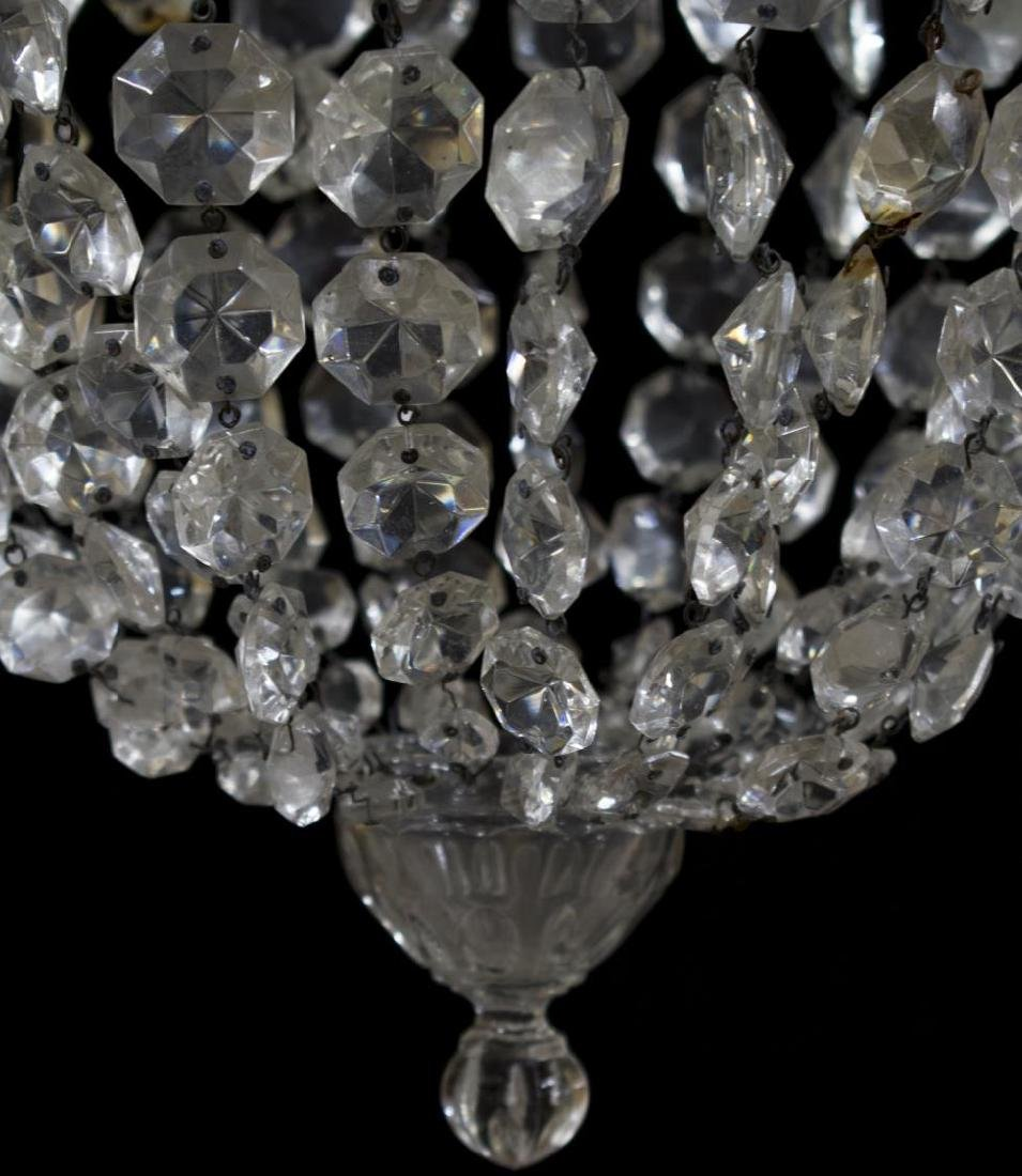 ITALIAN CRYSTAL SINGLE-LIGHT PENDANT CHANDELIER - 2
