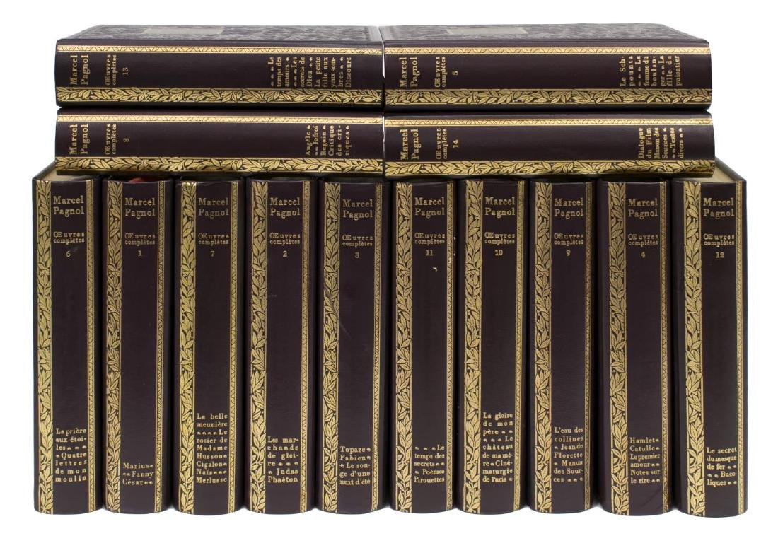 (14) FRENCH LEATHER BOUND LIBRARY BOOKS SET - 2
