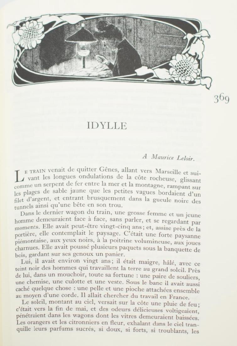 (12) ART NOUVEAU STYLE BLACK LEATHER LIBRARY BOOKS - 6