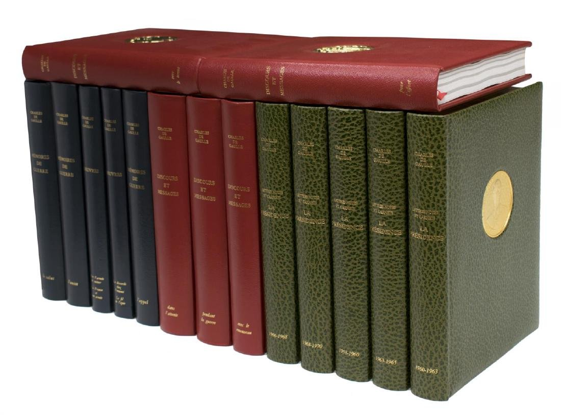(15) COLLECTION FRENCH LEATHER BOUND LIBRARY BOOKS