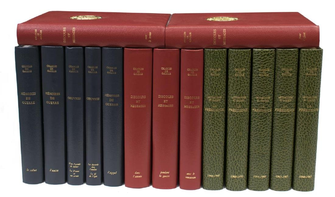(15) COLLECTION FRENCH LEATHER BOUND LIBRARY BOOKS - 2
