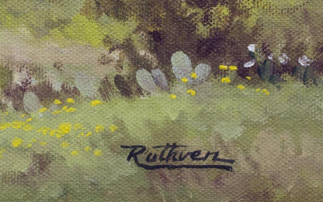 JERRY RUTHVEN (TEXAS B. 1947) TEXAS HILLS PAINTING - 3