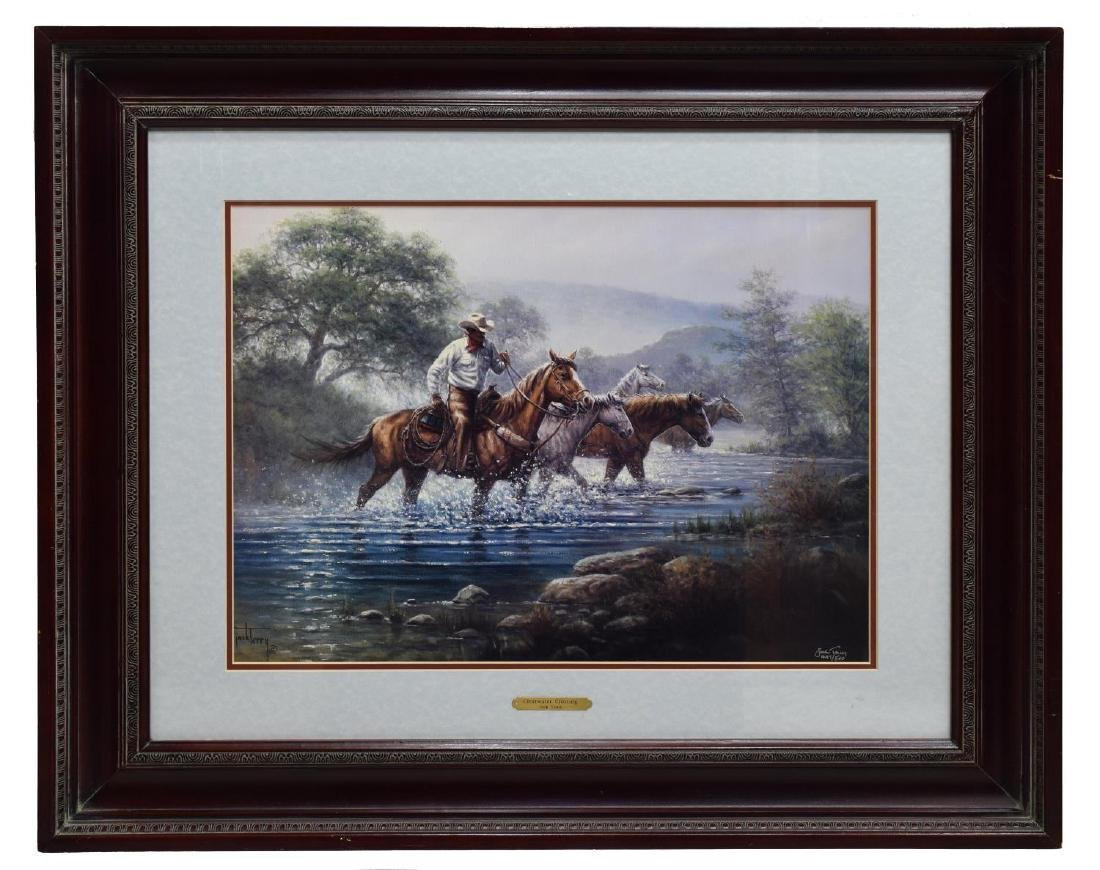 (2) FRAMED WESTERN PRINTS, CUSTERS LAST STAND - 6