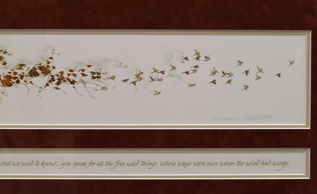 (2) FRAMED ARTWORK, BEV DOOLITTLE & LARRY ANSCHUTZ - 10
