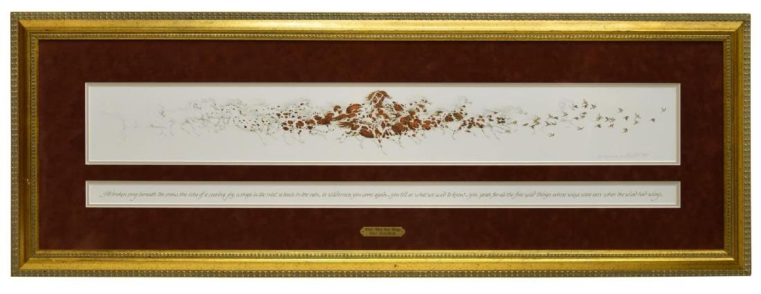(2) FRAMED ARTWORK, BEV DOOLITTLE & LARRY ANSCHUTZ - 7