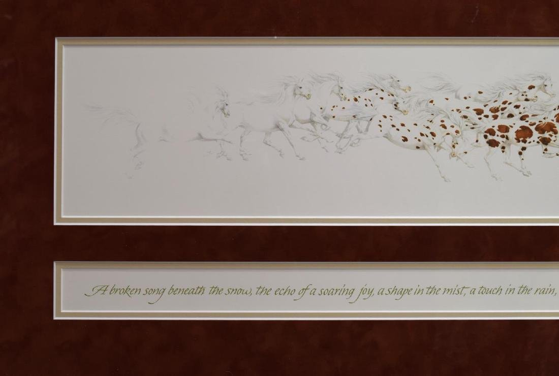 (2) FRAMED ARTWORK, BEV DOOLITTLE & LARRY ANSCHUTZ - 8
