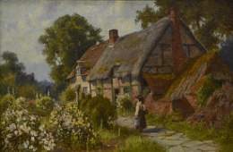 JOHN TYSON (FL. 1886-1905) THATCHED ROOF PAINTING